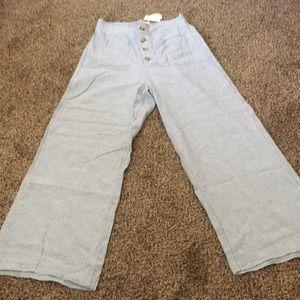NWT Aeropostale Wide Leg Linen Pants